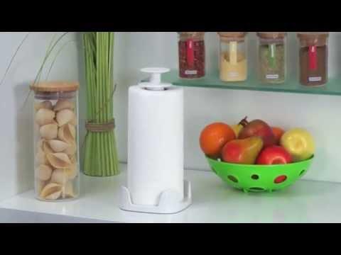 Видео Подвесные карнизы, крючки Tescoma Держатель для бумажных полотенец CLEAN KIT Tescoma 900704
