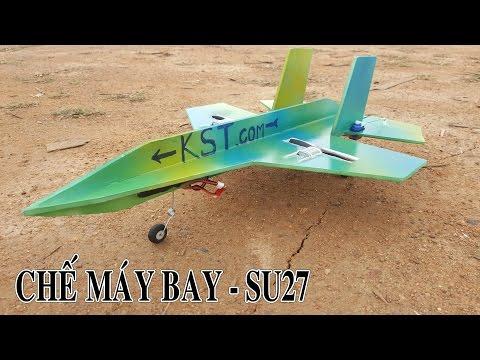 Chế Máy Bay Cánh Bằng Mini Su27 - sukhoi
