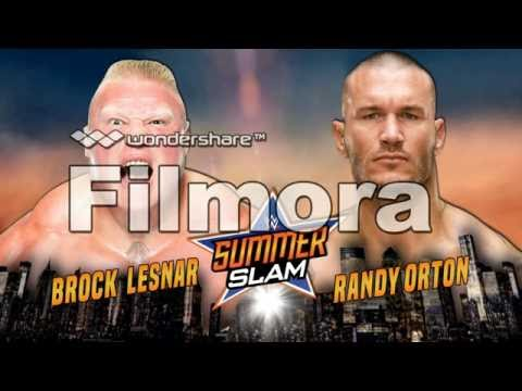 Brock lesnar vs randy orton summerslam 2016 Promo