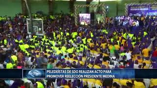 Peledeístas de SDO realizan acto para promover reelección del presidente Medina