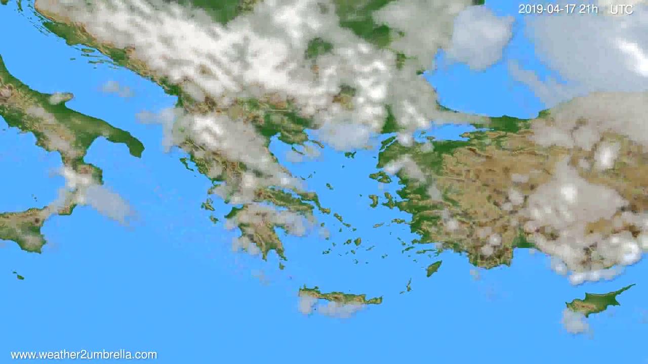 Cloud forecast Greece // modelrun: 00h UTC 2019-04-16