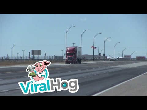 Strong Winds BodySlam 18Wheeler On Texas