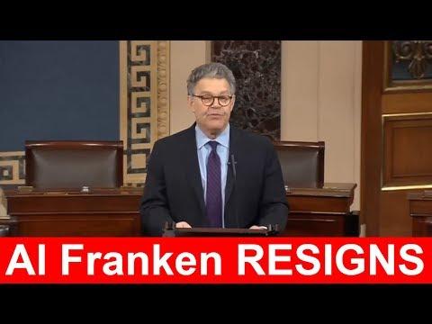 RESIGNS: Senator Al Franken Resignation Speech at Senate Floor  Dec 7 2017 Al Franken Senate Address