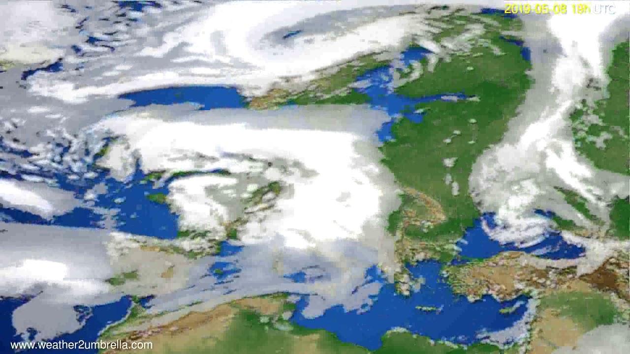 Cloud forecast Europe // modelrun: 12h UTC 2019-05-05