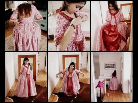Costume historique - robe polonaise enfant - Part V la traine manteau de robe