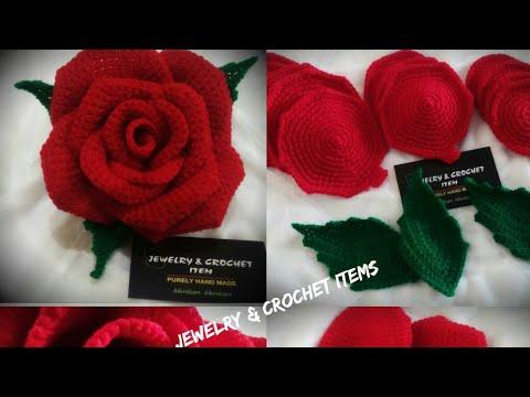 Crochet ROSE 🌹 Pattern