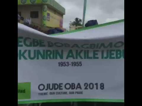 WATCH EGBE BOBAGBIMO OKUNRIN'S PARADE @ 2018 OJUDE OBA OF IJEBU ODE