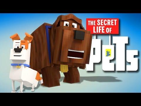 Minecraft Parody - SECRET LIFE OF PETS! - (Minecraft Animation)