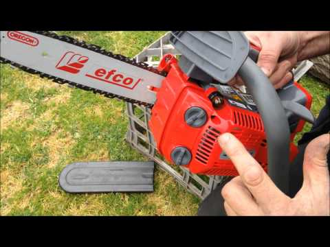 efco - Full review of Efco chainsaw with demonstration and sound.