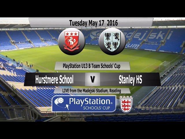 Full Match PlayStation U13 Schools Cup for B Teams Hurstmere School v Stanley High School