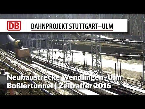 NBS: Boßlertunnel, Portal Aichelberg (Zeitrafferfilme 2014-2016)