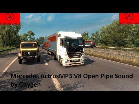 Mercedes Actros V8 Open Pipe Sound v1.0
