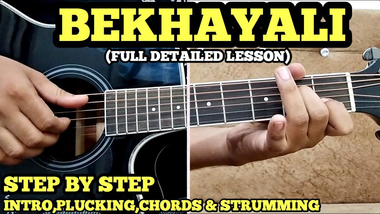 Bekhayali Guitar Lesson for TABS w/ Cover & Chords by FUXiNO | ARIJIT SINGH | KABIR SINGH