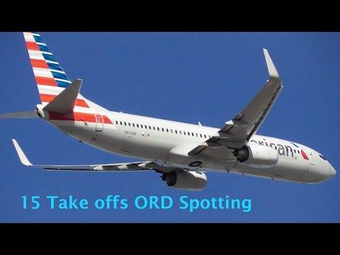 15 Take offs ORD Spotting [Part 2] - B763, B738, A321, CRJ7, E170, E75L, E145
