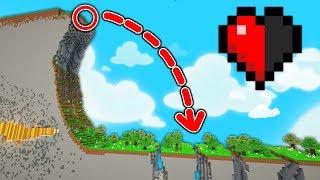ESSAYER DE SURVIVRE À CETTE CHUTE AVEC 1 DEMI COEUR !   PARCOURS Minecraft