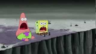 The scene where Patrick has his famous surprised face after seeing an evil cat lady get sucked up by a sea monster! Enjoy and...