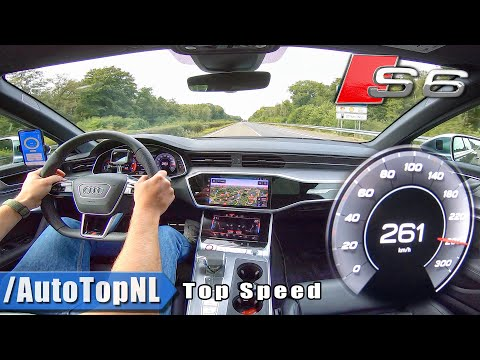 AUDI S6 2020 TOP SPEED on AUTOBAHN (No Speed Limit) by AutoTopNL