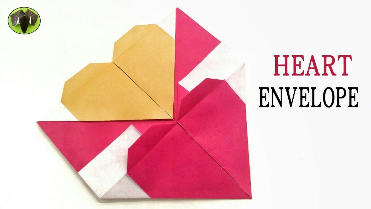 Double Heart Interlocking Envelope DIY Tutorial