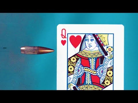 Splitting a Playing Card in ULTRA SLOW MOTION - Smarter Every Day 194 (видео)