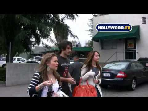 hollywoodtv - Miley Cyrus Talks With Hollywood.TV in La Canada. 03 15 09.