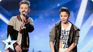 Simon Cowell Pushes The Golden Buzzer For These 2 Kids' Rap On