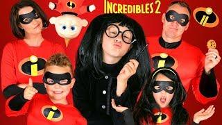 Video Disney Pixar Incredibles 2 Edna Mode Makeup and Costumes! Incredibles Family Lost Jack Jack!!! MP3, 3GP, MP4, WEBM, AVI, FLV September 2018