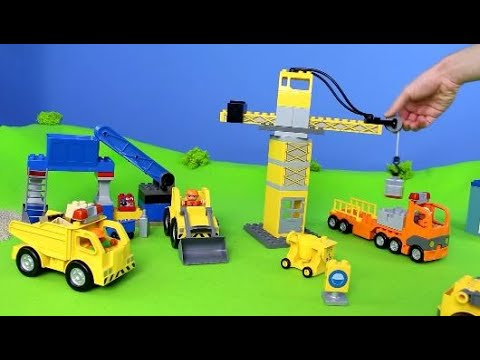 Fire Truck, Excavator, Train, Garbage Truck, Police Cars & Tractor | LEGO Construction Toy Vehicles