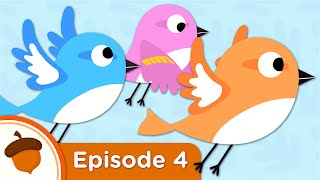 Cartoon - Sparrows Learn to Fly | Treetop Family Ep. 4 | Full Episode