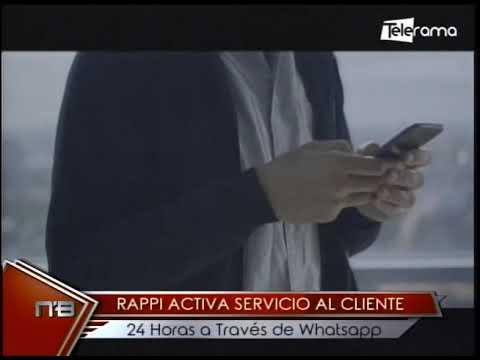 Rappi activa servicio al cliente 24 horas a través de Whatsapp