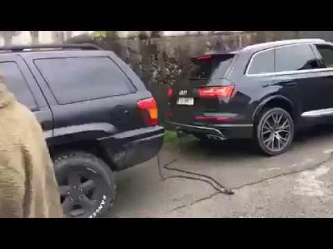Nowe Audi Q7 kontra Jeep. Myślał, że da mu radę