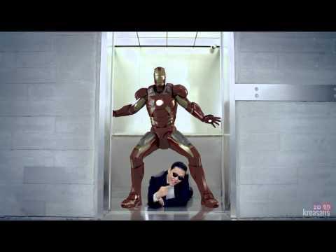 PSY feat IRON MAN 3D - GANGNAM STYLE (강남스타일) M/V (parody)