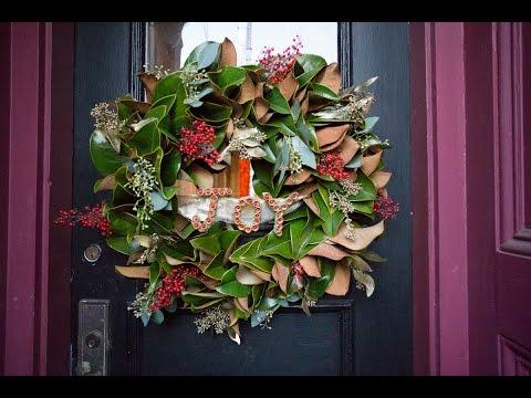 Мк новогодний венок на дверь