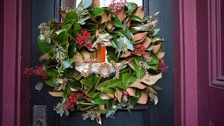Рождественские венки на дверь