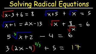 Solving Radical Equations With Square Roots, Cube Roots, Two R...