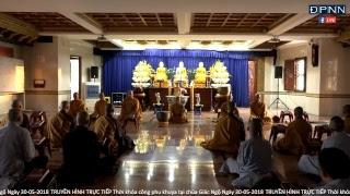 TT. Nhật Từ hướng dẫn thực tập thiền Tứ Niệm Xứ cùng Tăng đoàn chùa Giác Ngộ Ngày 30-05-2018