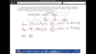 Umh2072 2013-14  Unidad 2 Conceptos De Probabilidad Y Test De Diagnóstico. Problema 7
