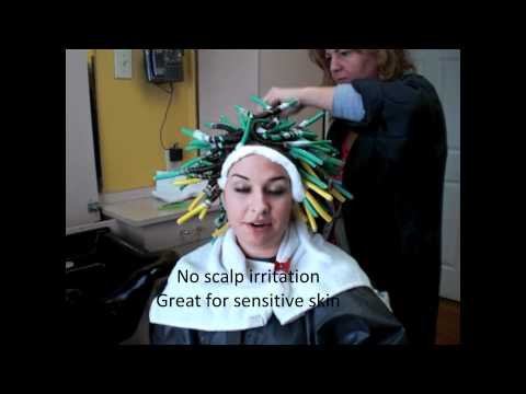 Spiral Perm on Long Hair