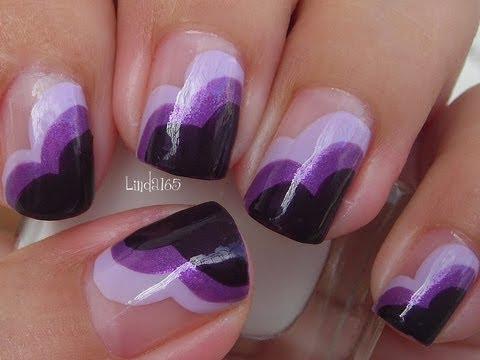 nail art - eleganti sfumature di viola