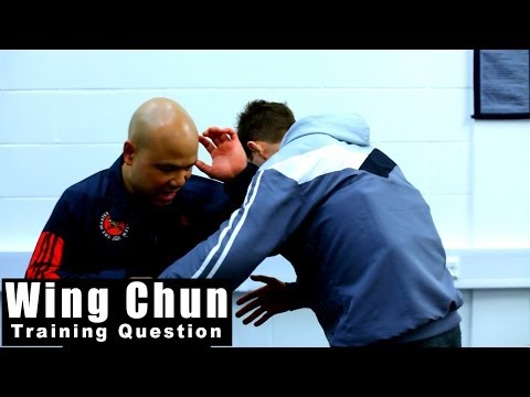 wing chun techniques elbow to the Chest