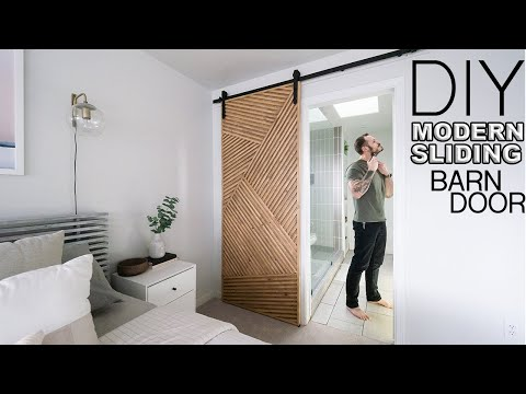 Building a Modern Sliding Barn Door