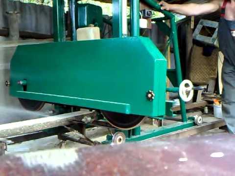 Ленточная пилорама на бензиновом двигателе своими руками
