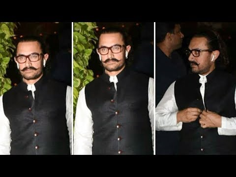 AAMIR KHAN GRAND ENTRY At Mukesh Ambani Ganpati Ce