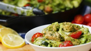 Chicken Pesto and Zucchini Pasta by Tasty