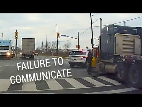 Confused Trucker vs Angry Cop