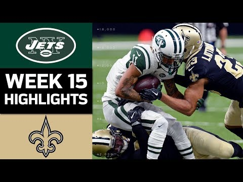 Jets vs. Saints | NFL Week 15 Game Highlights (видео)