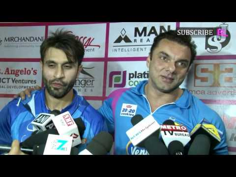 Sohail Khan and Arbaaz Khan at Second Match of Ton