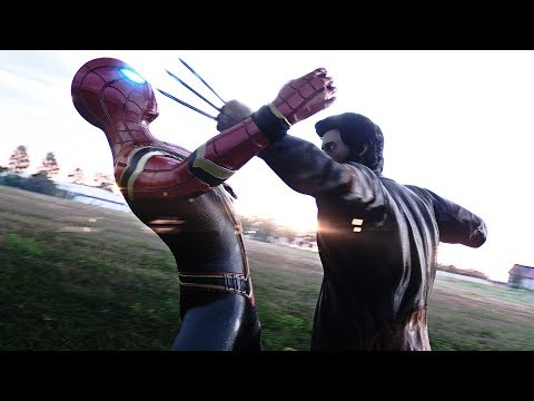 IRON SPIDER-MAN FIGHTS WOLVERINE Vs CYCLOPS & JAX (IRON SPIDER FROM AVENGERS INFINITY WAR)