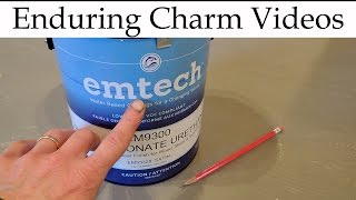 This is a complete review of the Emtech brand water based polyurethane made by Target Coatings of Fair Lawn, NJ.  I was pleasantly surprised by how much I like this finish--it's like no other water based clear finish I've ever used before.  Even sheen, quick drying, excellent spread with a brush, and tough resistance to abrasion.  What's not to like?  This is my new go-to finish when I need a clear coat on top of dye, stain or milk paint.