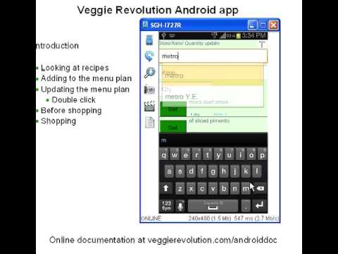 Video of Veggie Shopping list generator