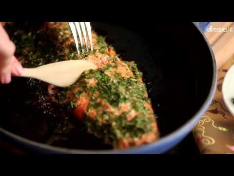 Salmone al forno con aneto, coriandolo e miele